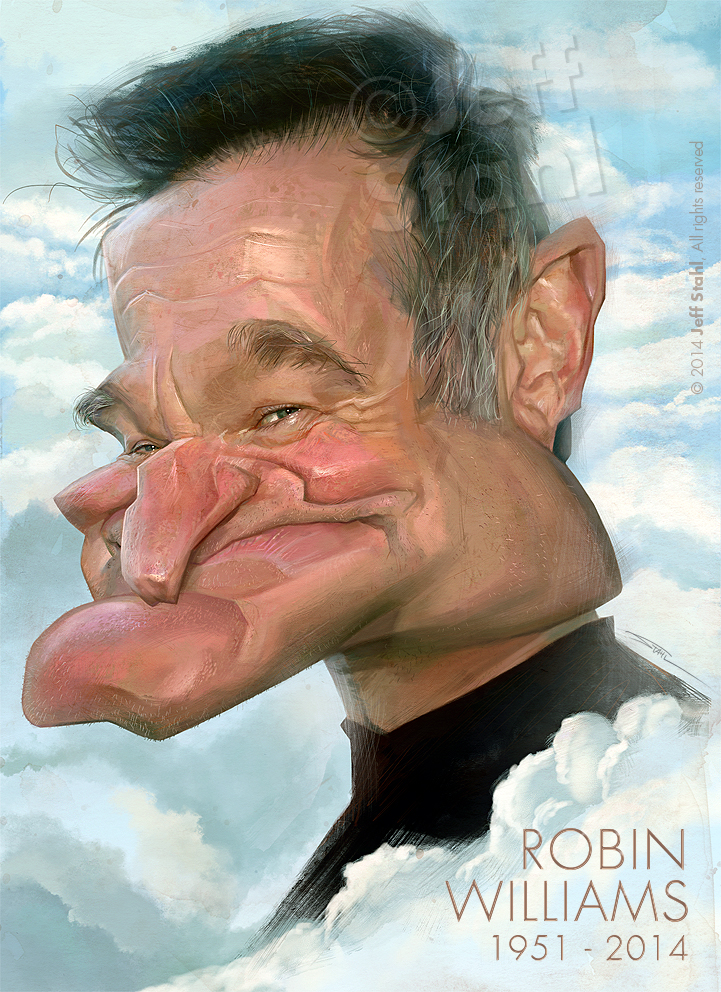Robin Williams, by Jeff Stahl by JeffStahl
