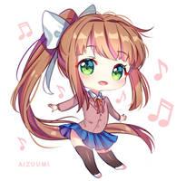Just Chibi Monika [+Video] by Aizuumi