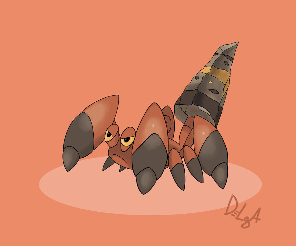 Pokemon Crustle Evolution MEGA CRUSTLE -concept art-