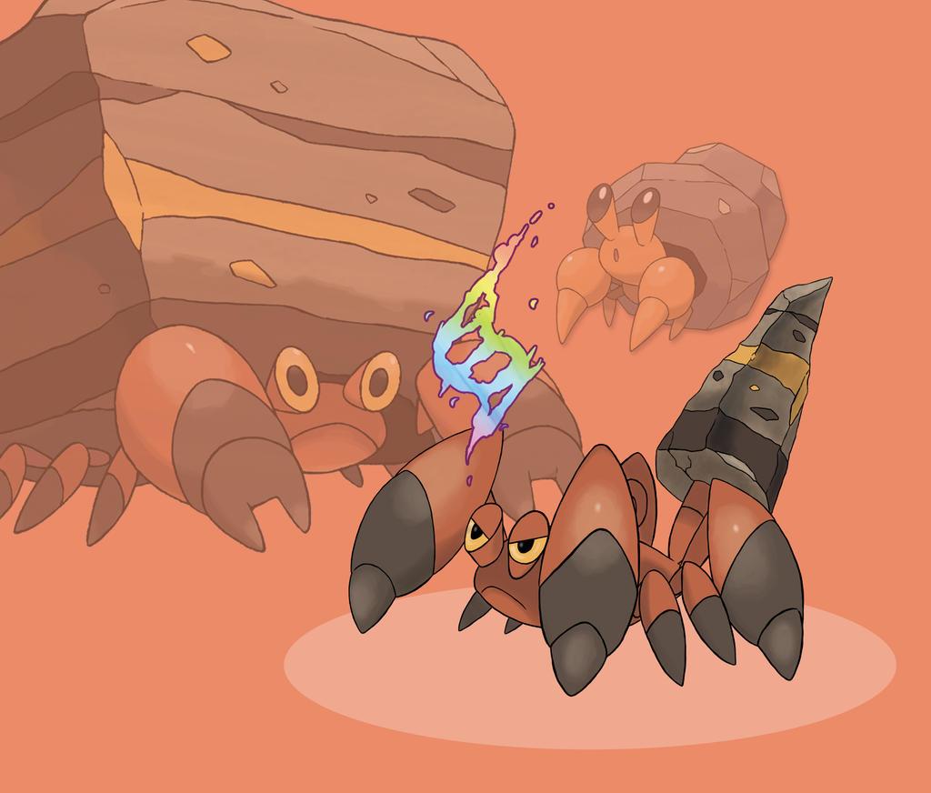 Pokemon Crustle Evolution MEGA CRUSTLE (fan made...