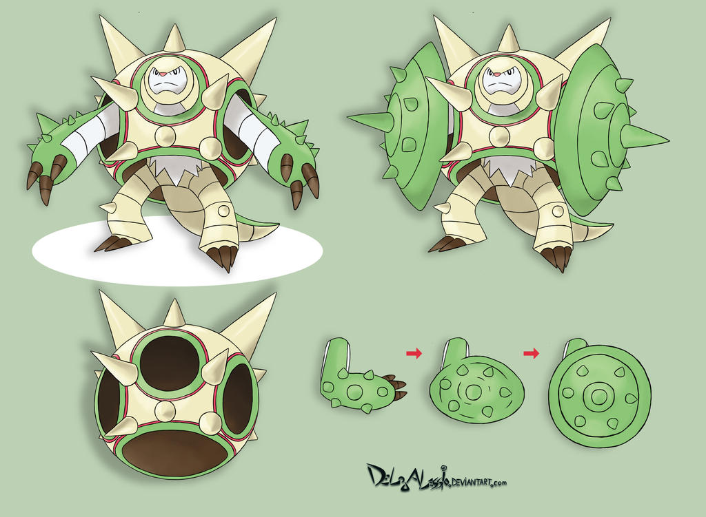 Mega Chesnaught - concept art by delgalessio on DeviantArt