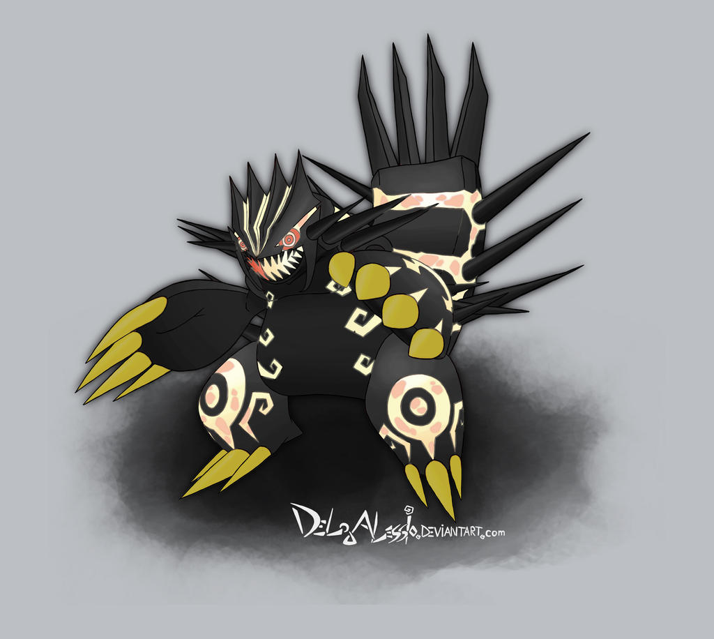 SHINY Primal Groudon by delgalessio on DeviantArt