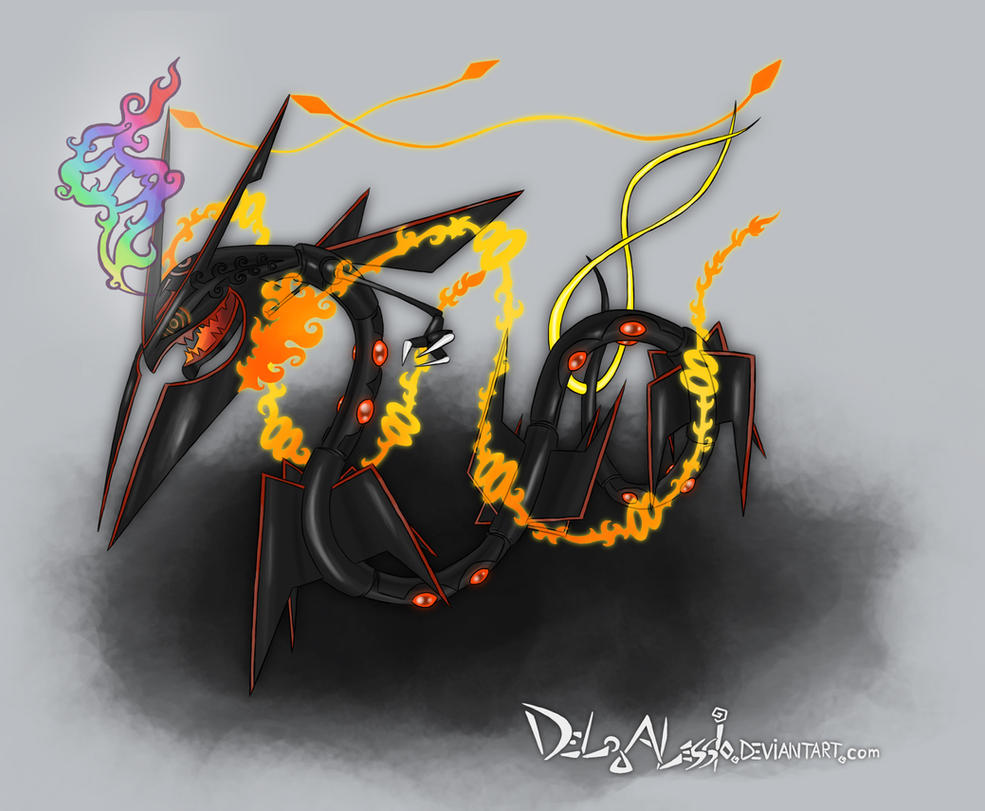 shiny mega rayquaza by delgalessio on deviantart