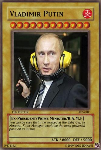 vladimir putin yugioh card by votetennant on deviantart