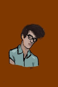 Cartoony morrissey sketch thing.