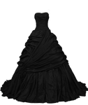 Black Ball Gown PNG