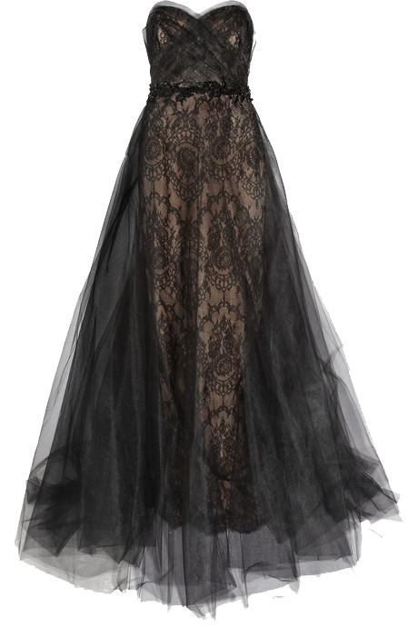 Flowing Black Dress png by Vixen1978