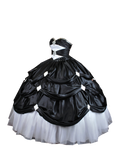 Black and White Ball Gown PNG