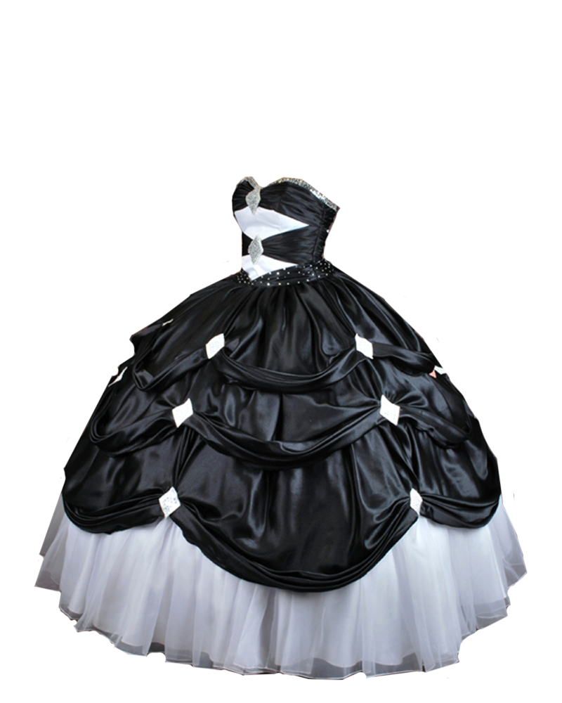 Black and White Ball Gown PNG by Vixen1978 on DeviantArt