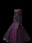 Black and Purple Mermaid Gown PNG