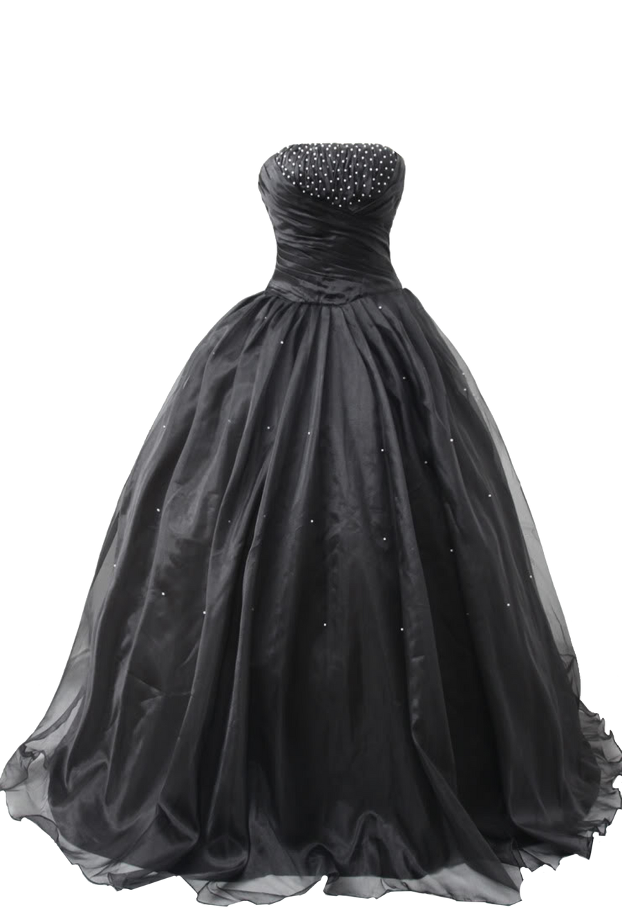 Black Ball Gown 4 PNG by Vixen1978
