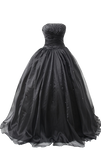 Black Ball Gown 4 PNG