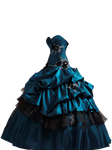 Teal Ball Gown PNG