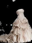 Ivory Wedding Dress PNG