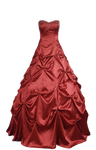 Burgundy Red Ball Gown PNG