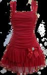 Flirty Short Red Dress PNG