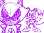 Metal Sonic vs Tails