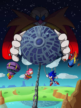 Sonic the Hedgehog CD Illustration