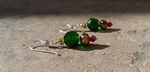 Christmas Ornaments - Beaded Earrings