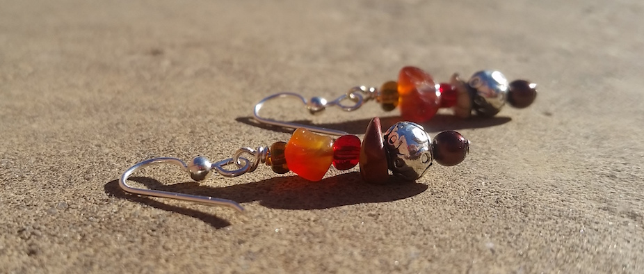 Carnelian Dreams - Beaded Earrings
