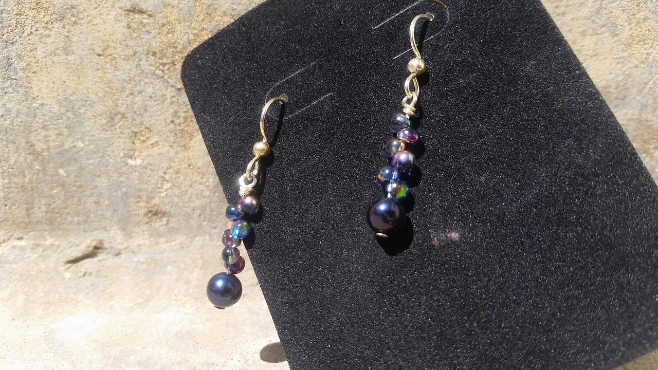 Pearls of the Deep - Beaded Earrings
