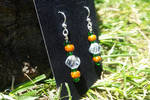 Morning Rain on the Pine Trees - Beaded Earrings