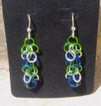 Seahawks Inspired Shaggy Loops Chainmail Earrings
