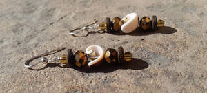 Ocean Coconuts - Beaded Earrings