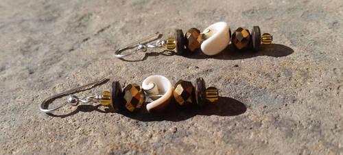 Ocean Coconuts - Beaded Earrings