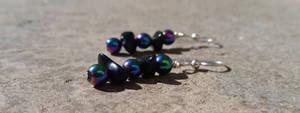 Rainbows in the Dark - Beaded Earrings