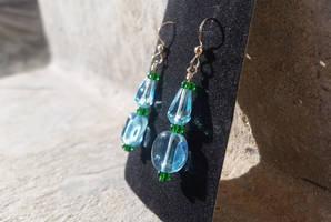 Peaceful Lake in the Woods - Beaded Earrings