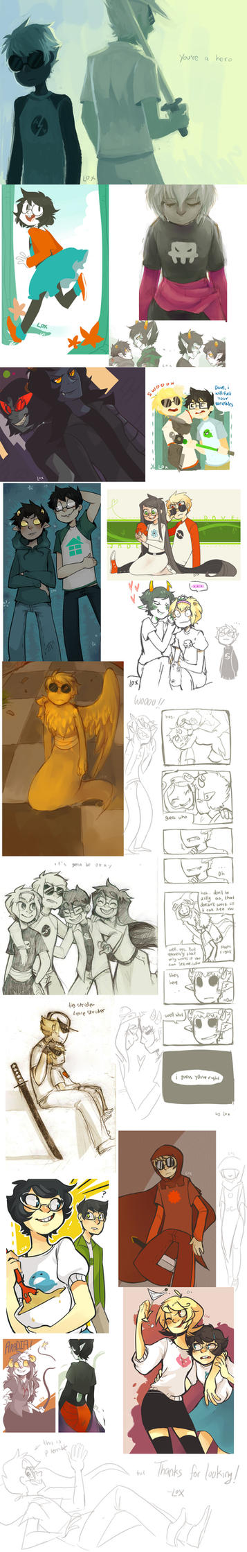 homestuck sketchdump by Rockafiller