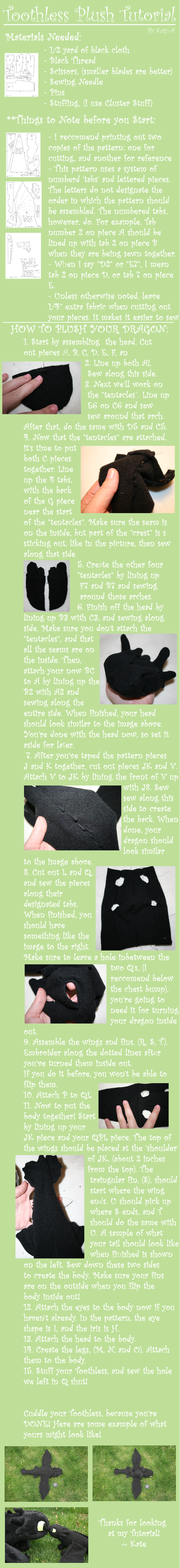 How to Plush your Dragon by Katy-A