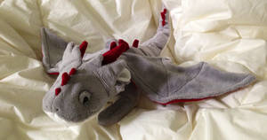 Grey Floppy Dragon Plush - FOR SALE! by Katy-A