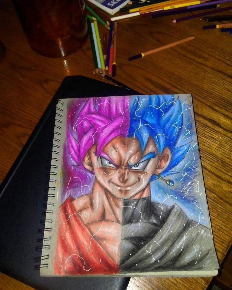 Goku rose and Goku Blue by xprotector10