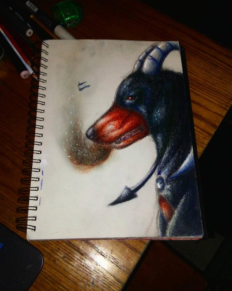 Realistic houndoom by xprotector10