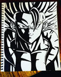 Drawing the mighty Gogeta