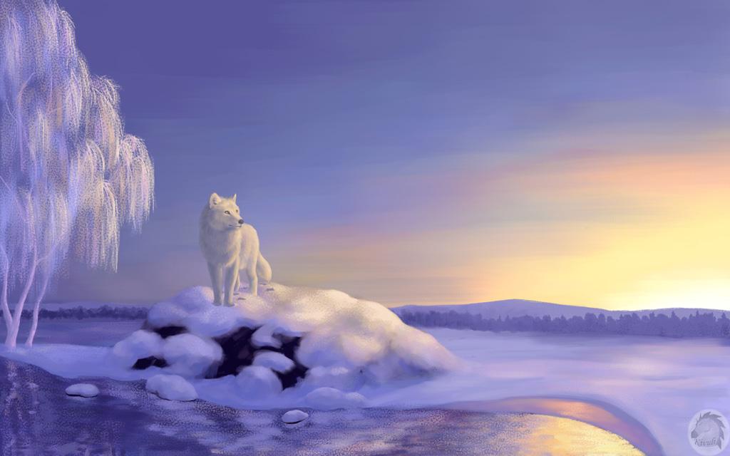 Winter wolf by Kivuli
