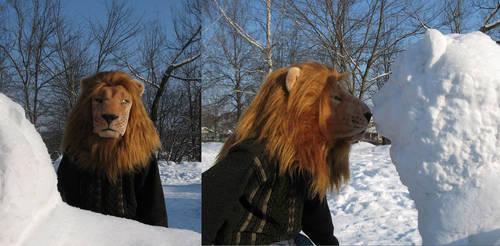 Lion's head for fursuit by Kivuli