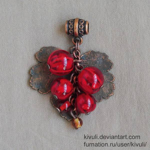 Red currant with copper leaf