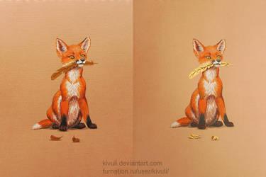 A fox cub's treasure by Kivuli