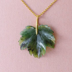 Jade leaf pendant by Kivuli