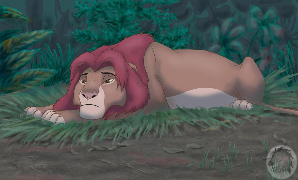 Sad Simba by Kivuli