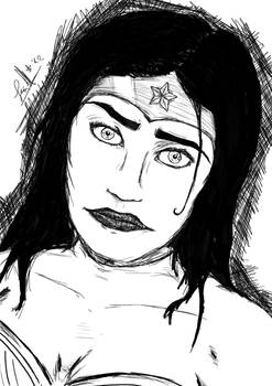 Black and White Wonder Woman