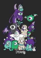 Mono-eyed Monster Family by ExtremelyShane