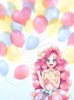 Pinkie Pie with Balloons by Autumn--Rush