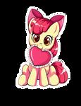 Apple Bloom Heart Sticker
