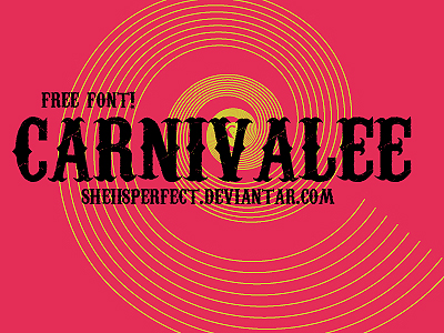 Download font Carnivalee Freakshow Regular for free  AZFonts