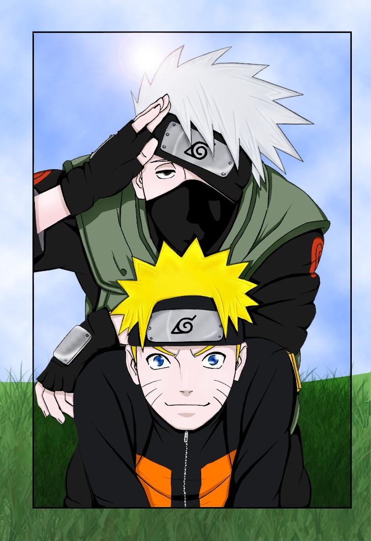 Naruto and Kakashi by Varennik