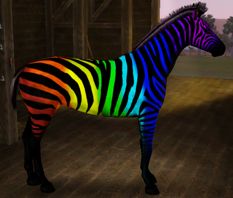 neon rainbow zebra wallpaper